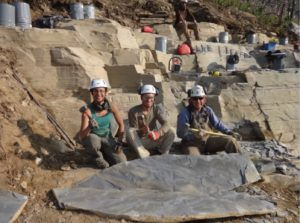 Photo courtesy of Arvid Aase, finding new species in the Burgess Shale